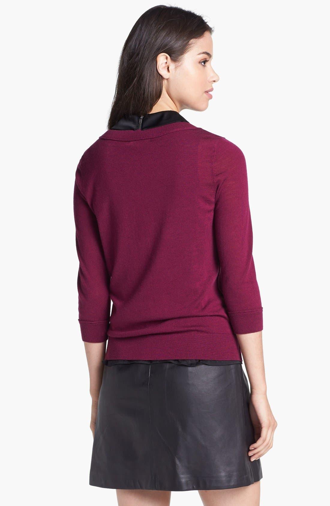 Alternate Image 2  - Halogen® Three Quarter Sleeve Crewneck Sweater