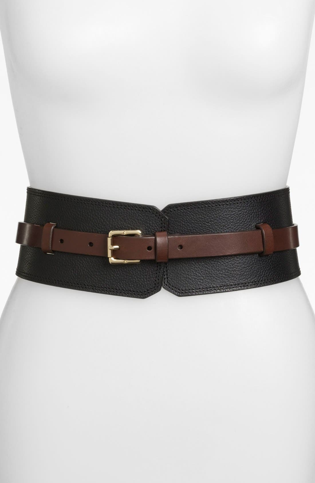 Alternate Image 1 Selected - Tory Burch Wide Leather Belt
