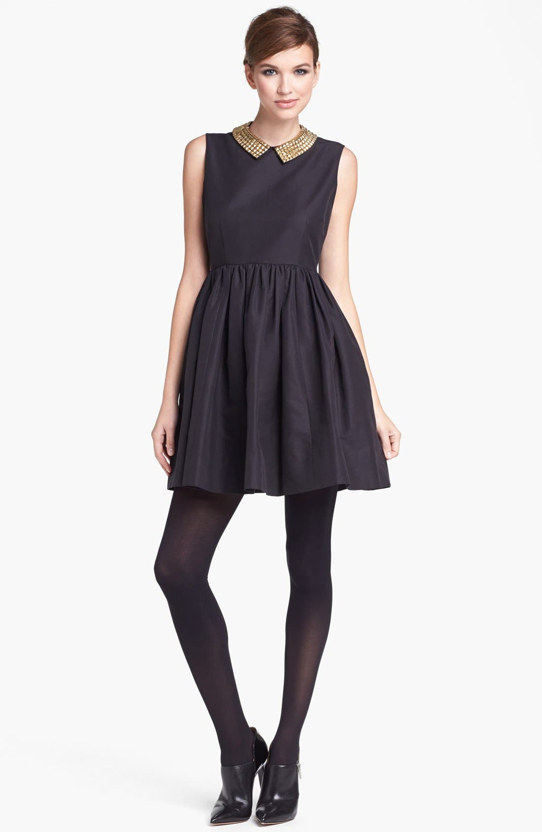 Alternate Image 1 Selected - kate spade new york 'laurence' cotton blend fit & flare minidress
