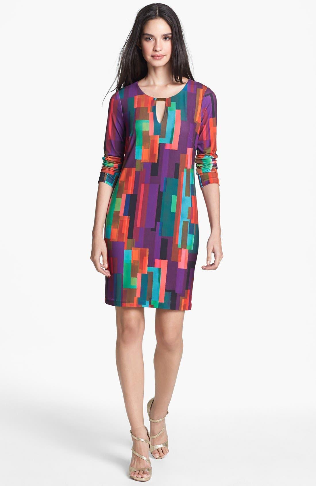 Alternate Image 1 Selected - Trina Turk 'Neva' Print Jersey Shift Dress