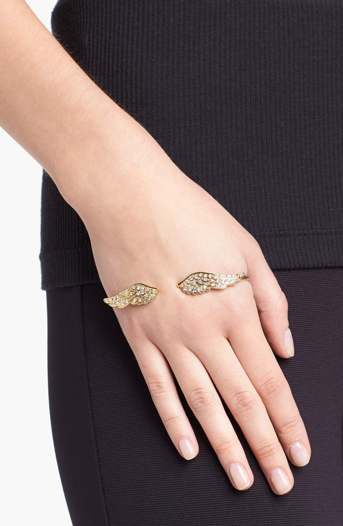 Alternate Image 2  - Cara Couture 'Wing' Hand Bracelet