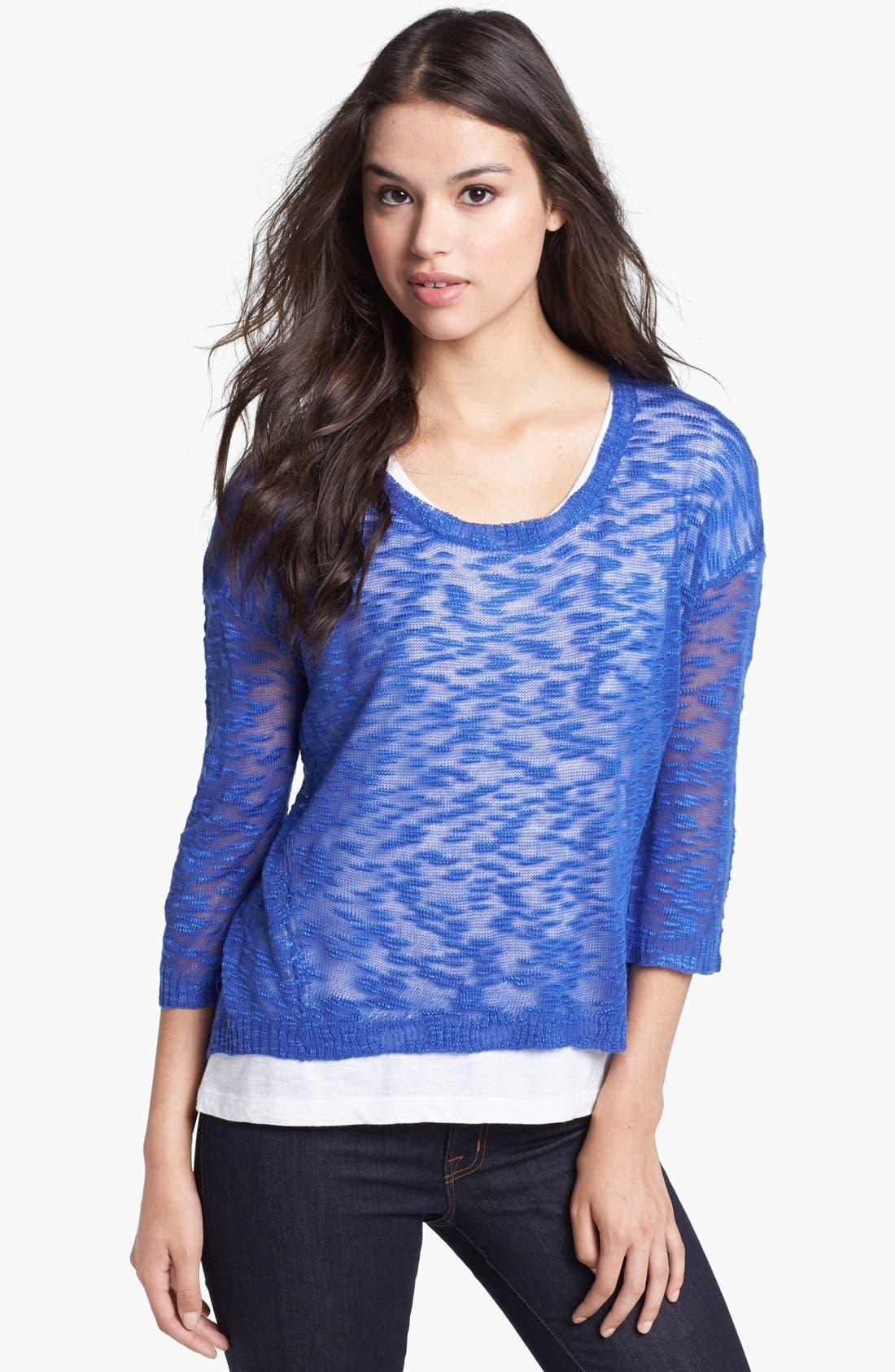 Alternate Image 1 Selected - kensie Textured Sweater