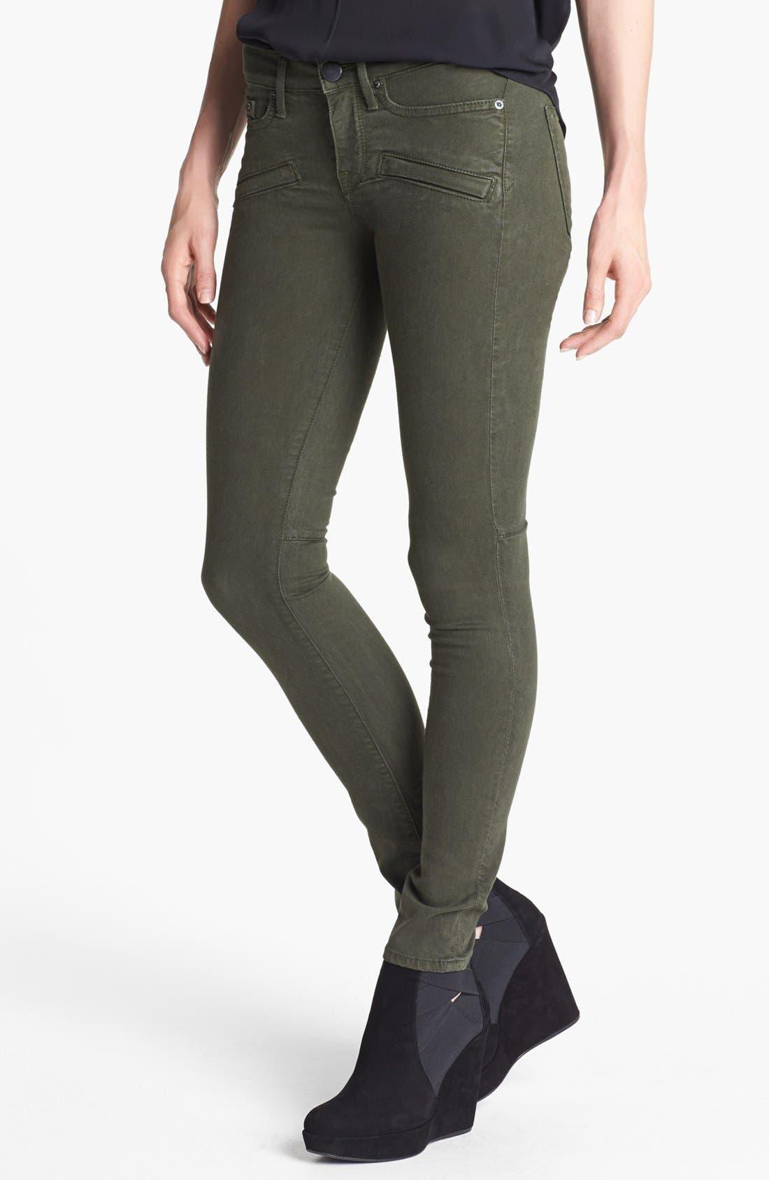 Main Image - Vince Skinny Stretch Jeans (Dark Olive)
