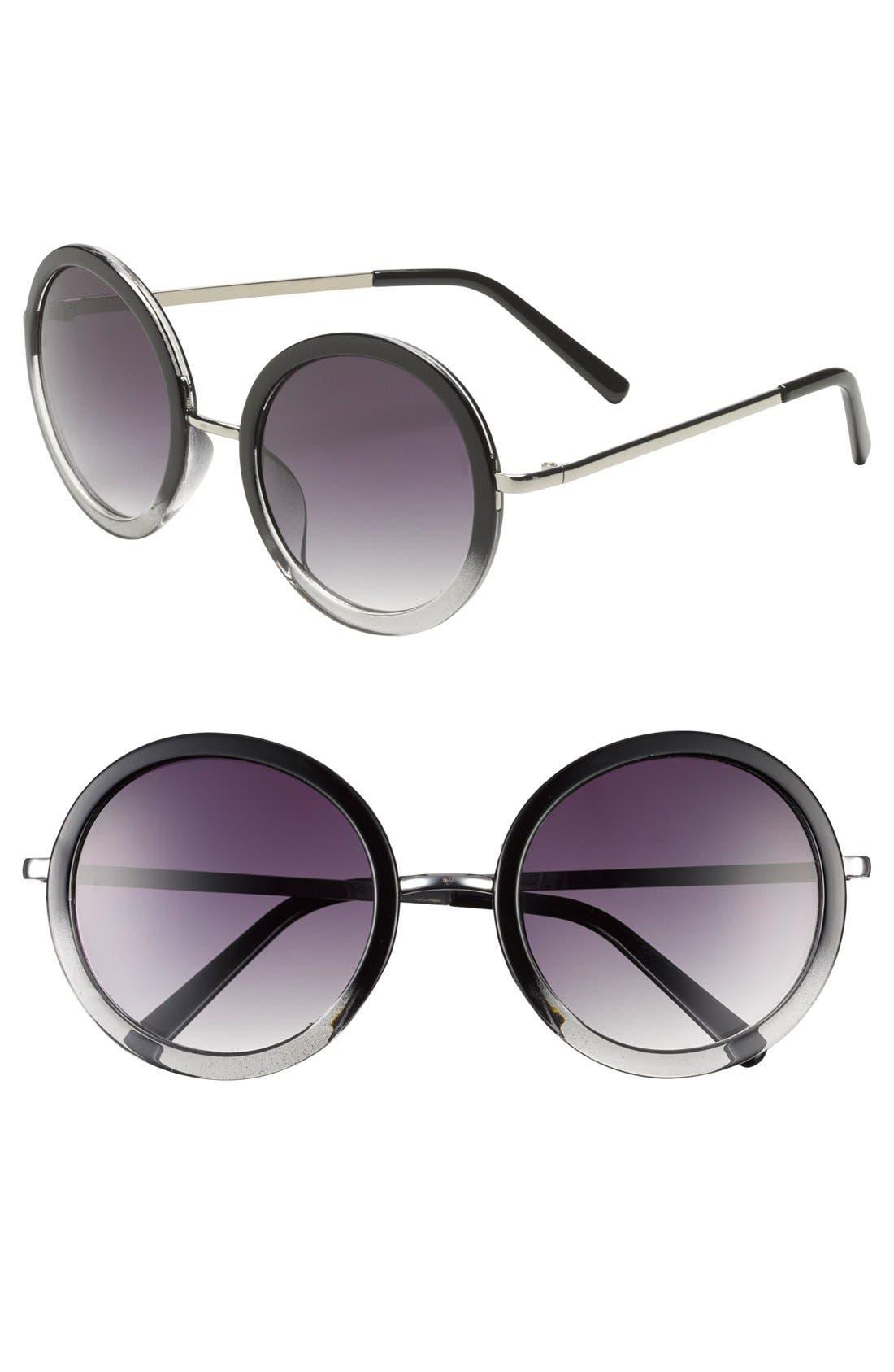 Alternate Image 1 Selected - Tildon Round Ombré Sunglasses