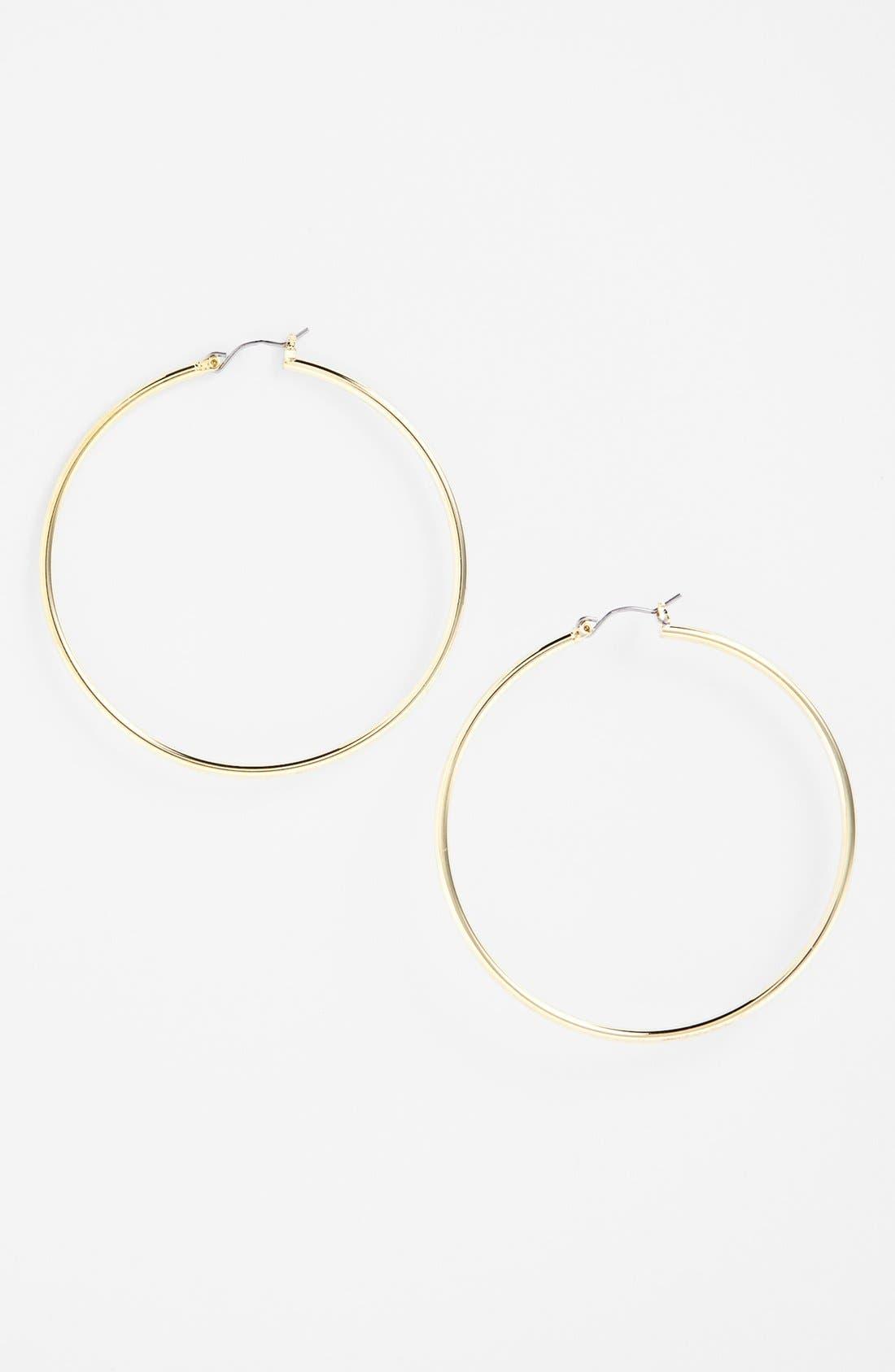 Main Image - Lauren Ralph Lauren Large Hoop Earrings