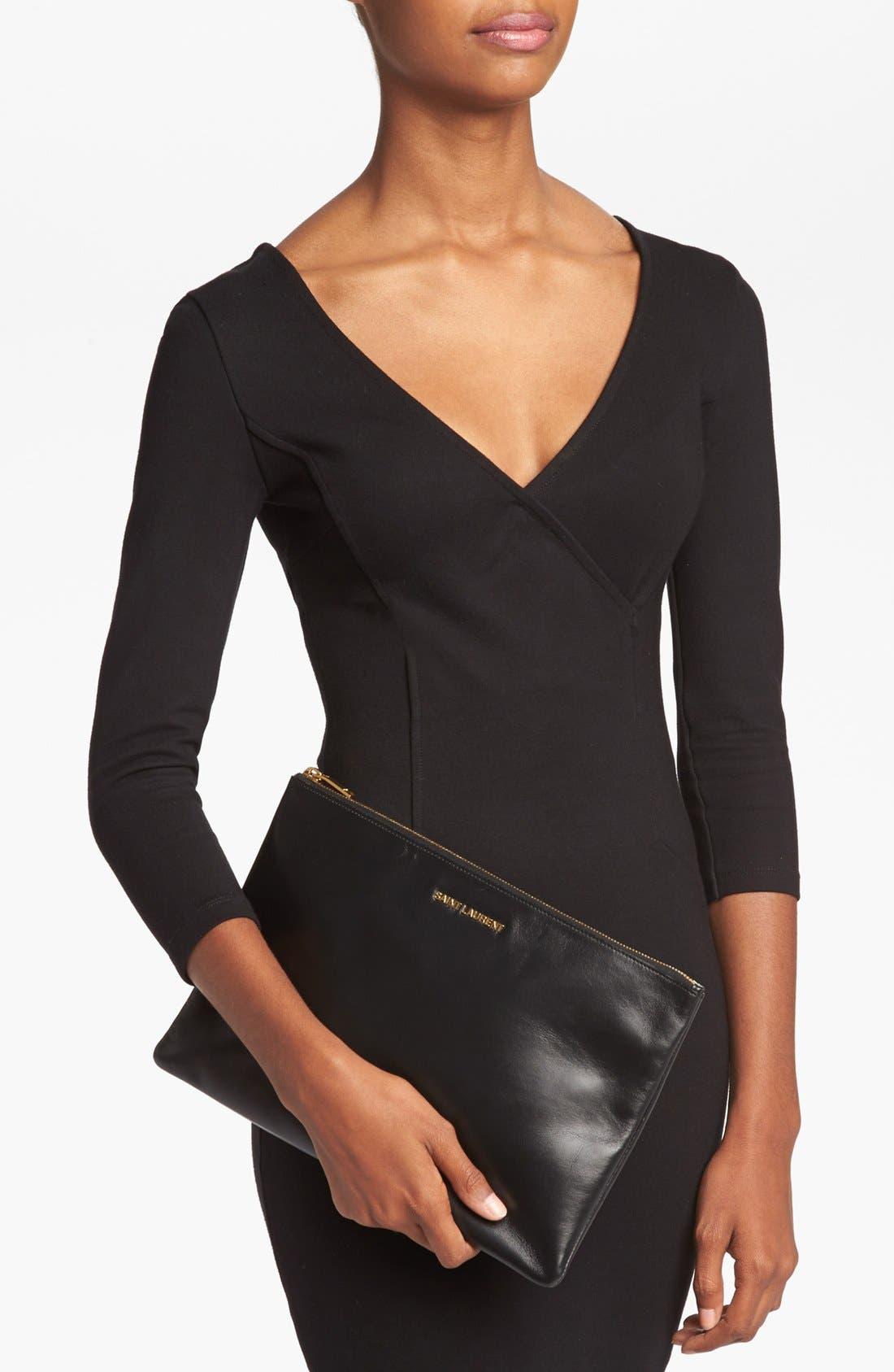 Alternate Image 2  - Saint Laurent Leather Clutch