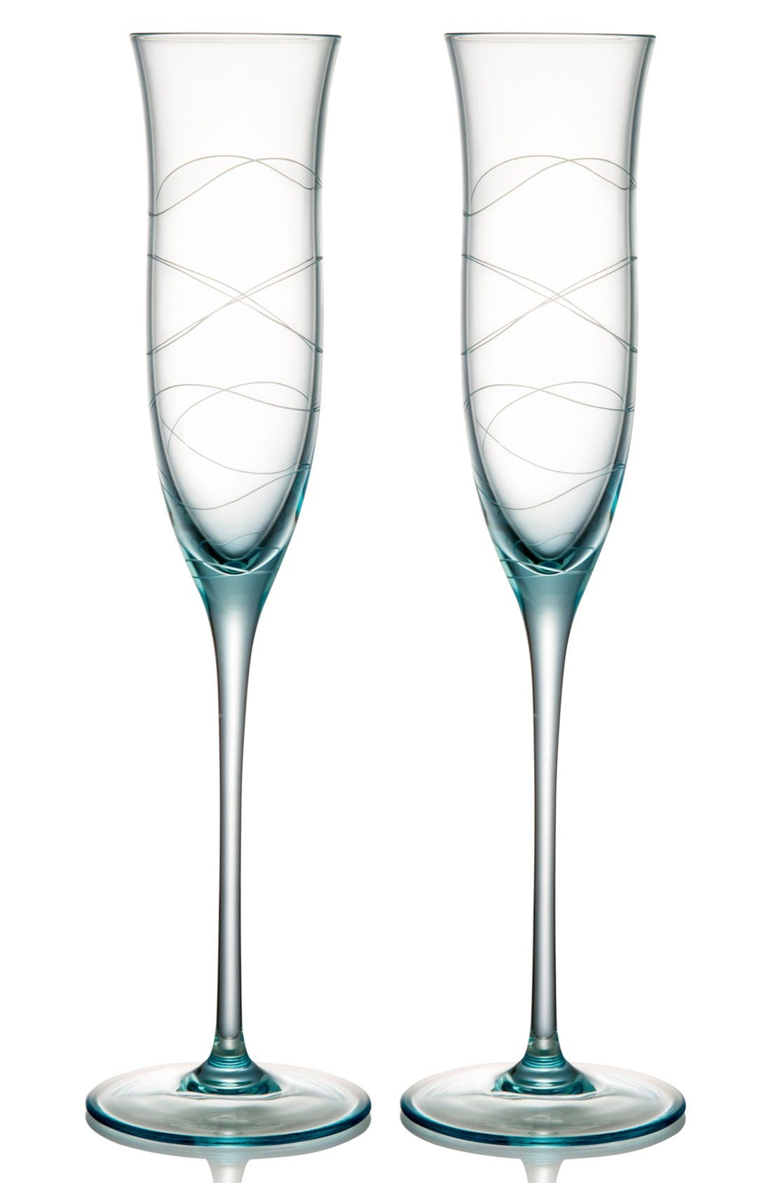 Main Image - Nambé 'Motus' Crystal Champagne Flutes (Set of 2)