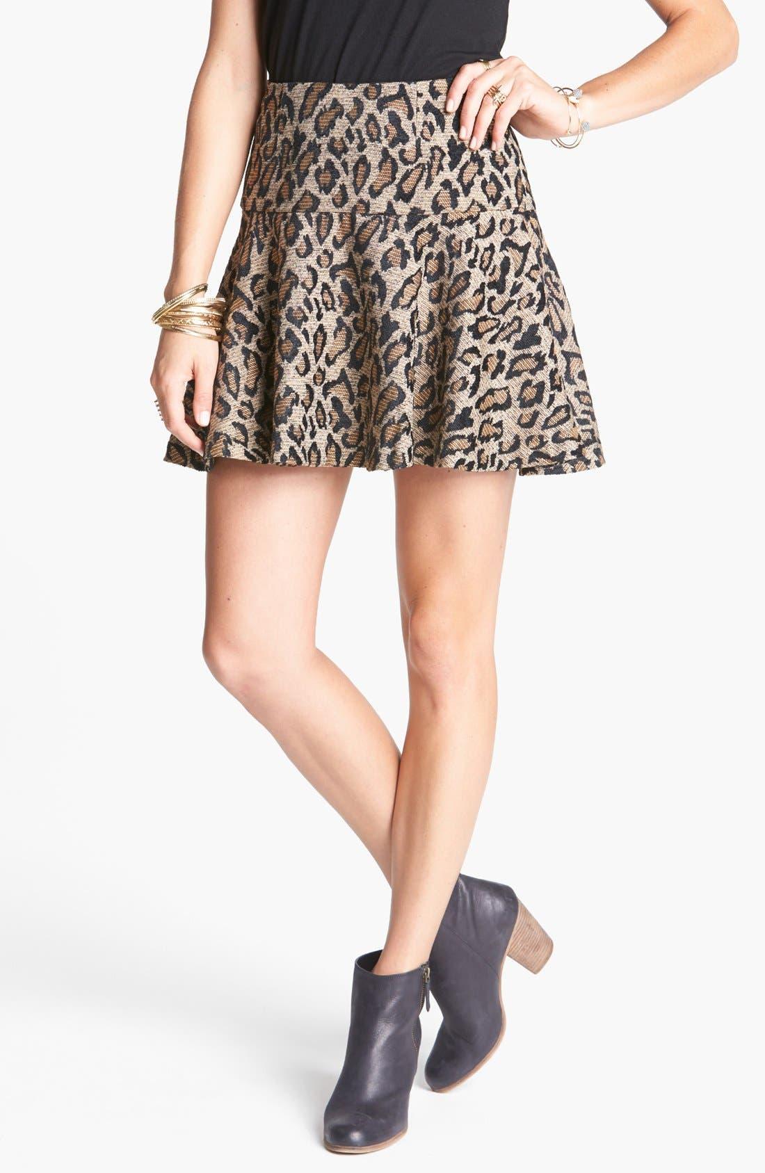 Alternate Image 1 Selected - Free People Cheetah Jacquard Skirt