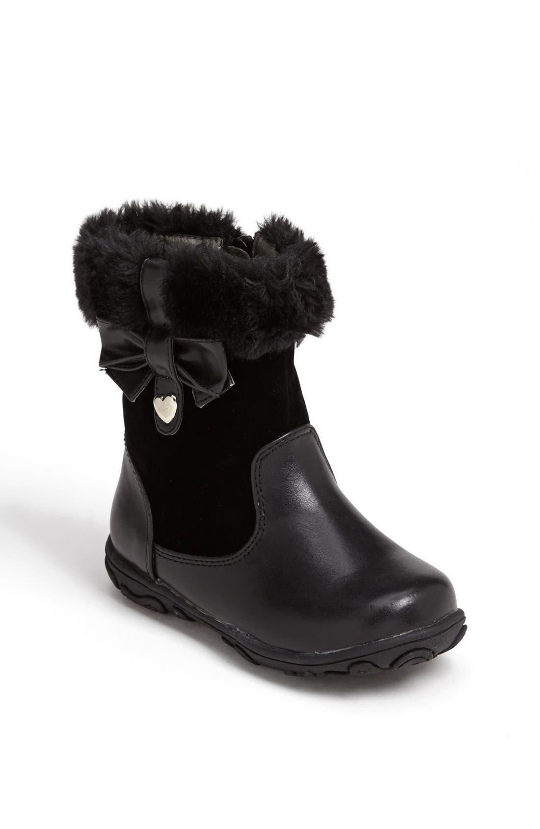 Alternate Image 1 Selected - Laura Ashley 'Bow' Boot (Walker & Toddler)