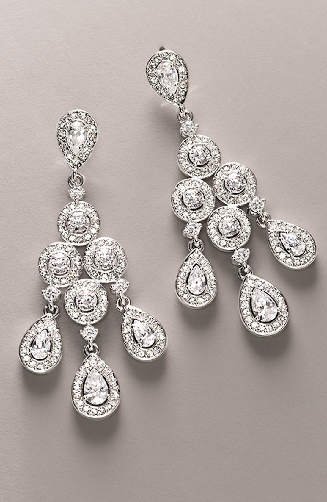 Alternate Image 4  - Nadri Framed Chandelier Earrings