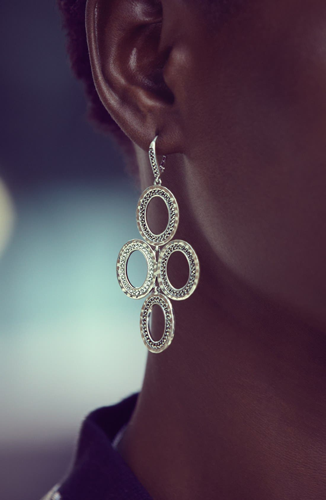 Alternate Image 3  - Judith Jack 'Halo' Oval Chandelier Earrings