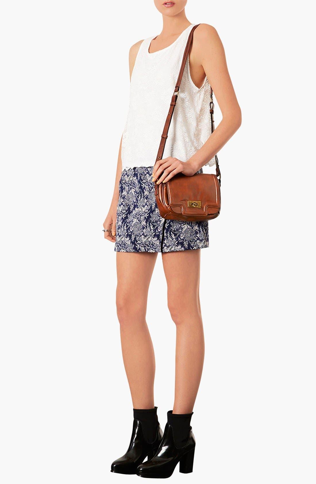 Alternate Image 2  - Topshop Faux Leather Crossbody Bag
