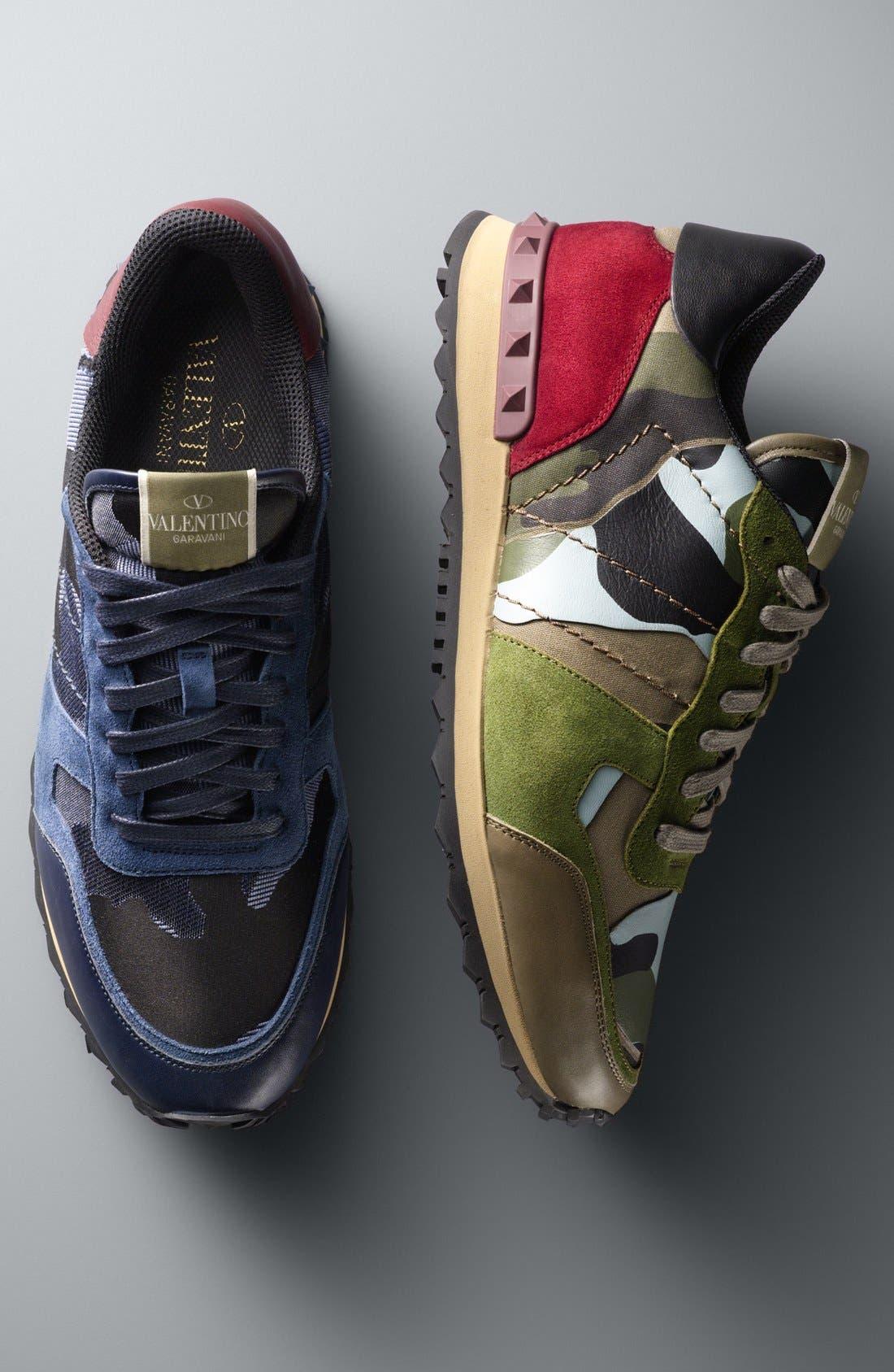 Alternate Image 4  - Valentino Camouflage Sneaker (Men)