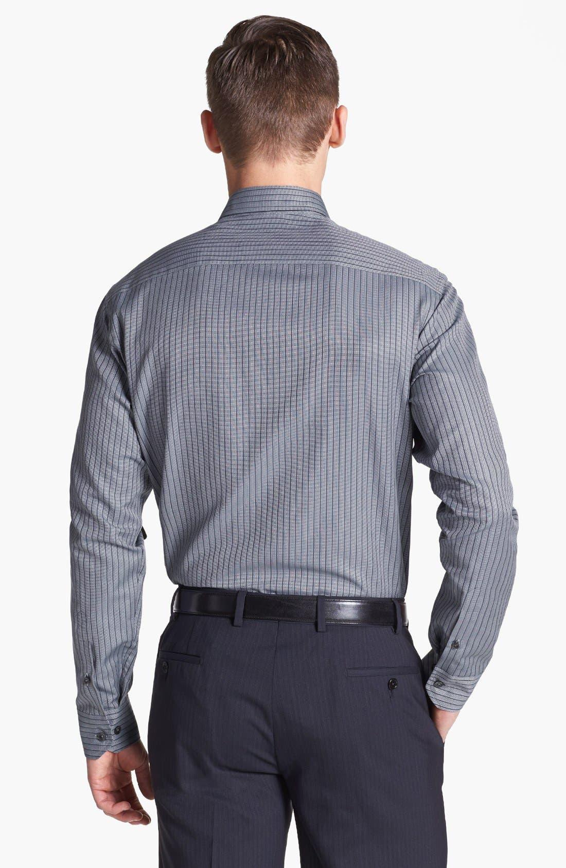 Alternate Image 2  - Armani Collezioni Modern Fit Stripe Woven Shirt