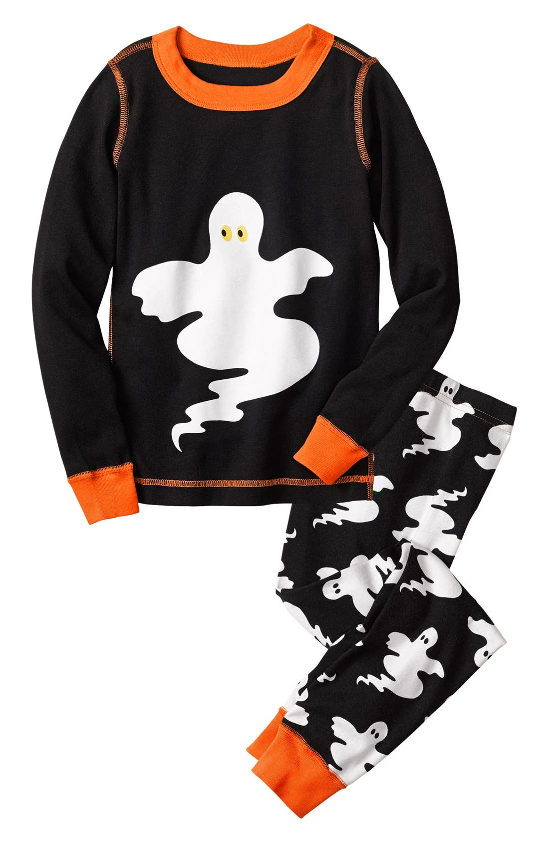 Alternate Image 1 Selected - Hanna Andersson 'Halloween' Fitted Two Piece Fitted Pajamas (Toddler)