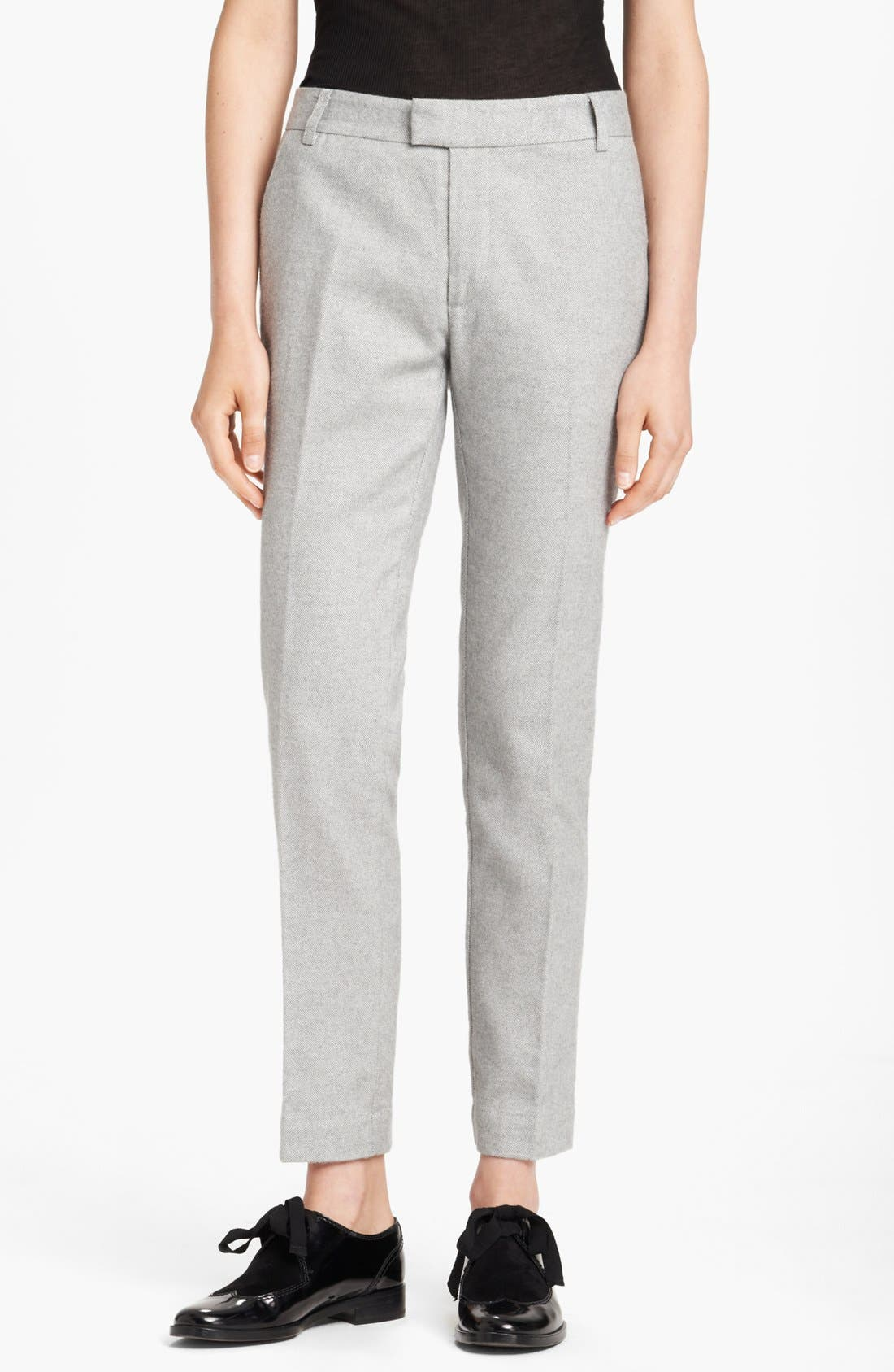 Alternate Image 1 Selected - Band of Outsiders Slim Tweed Pants