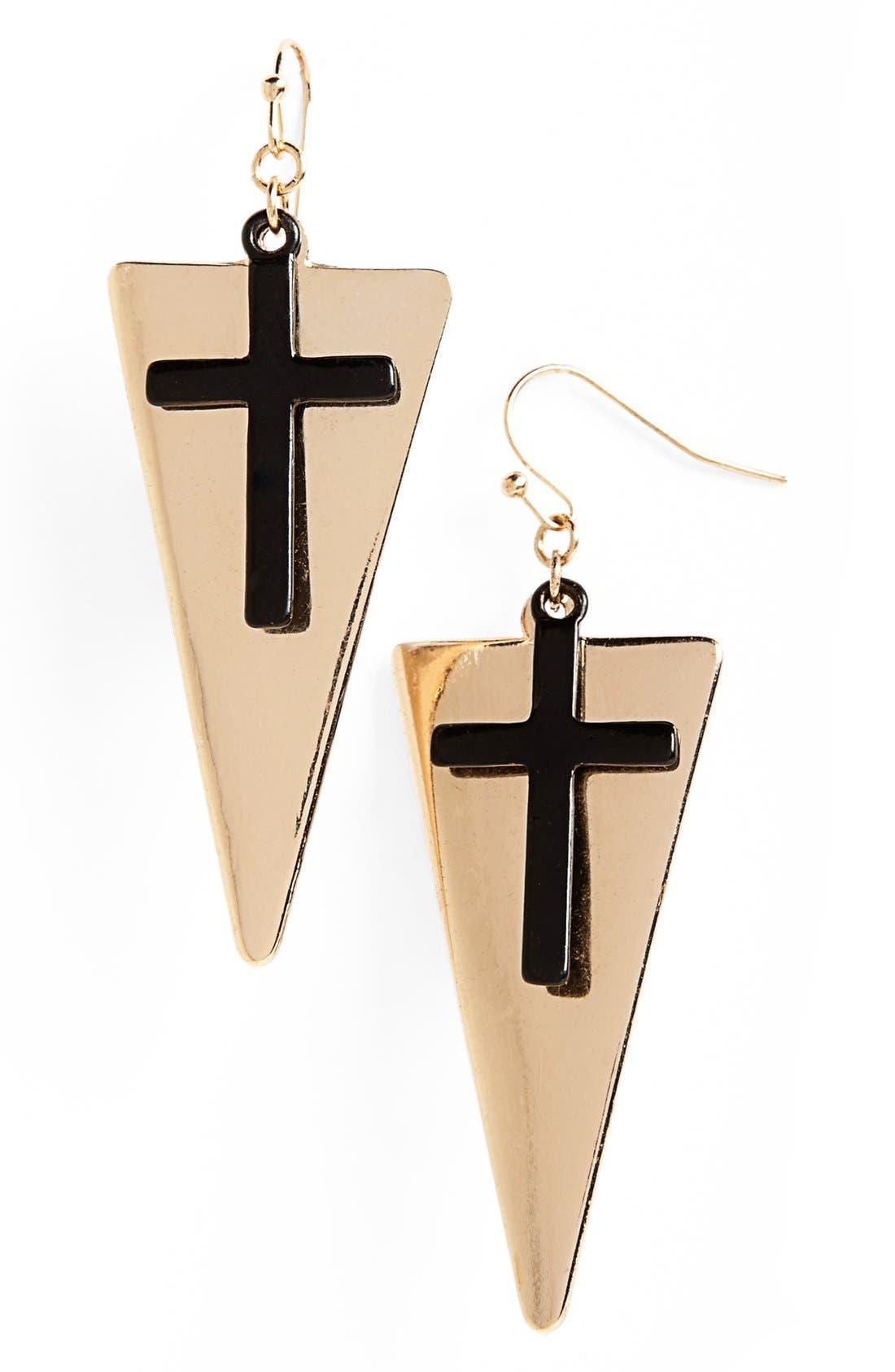 Alternate Image 1 Selected - Orion Cross Earrings