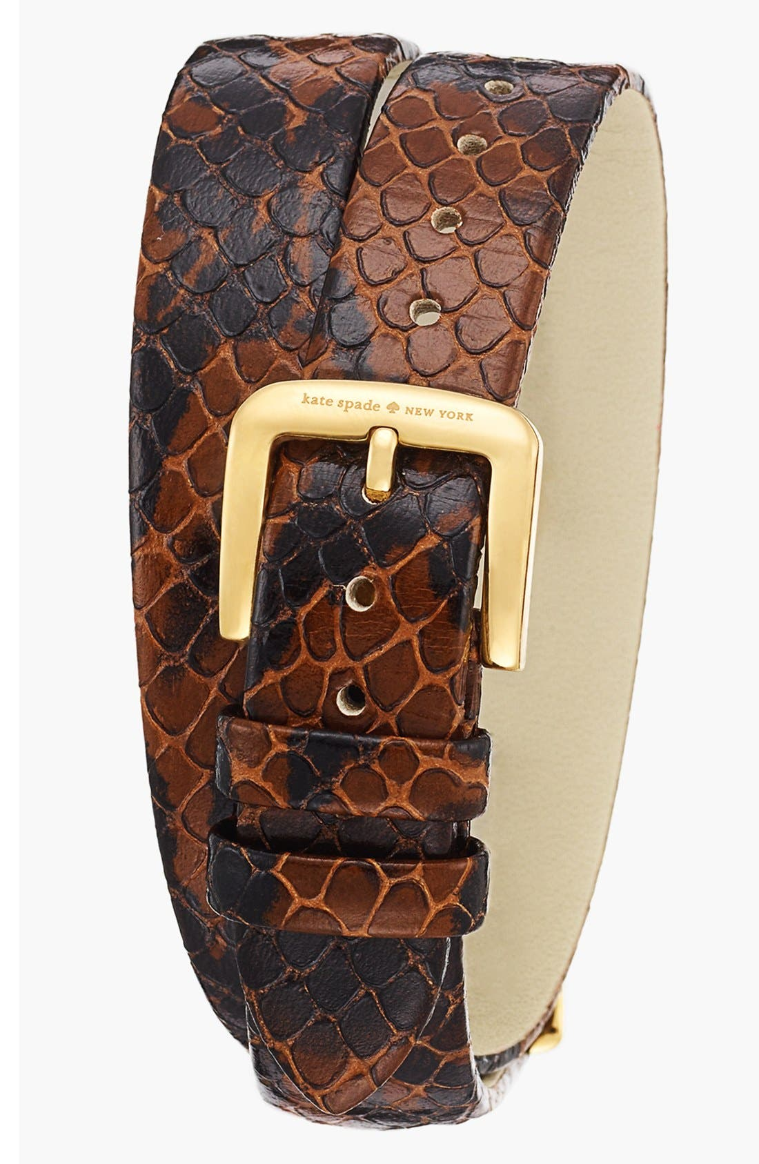 Alternate Image 2  - kate spade new york 'cooper' double wrap watch, 21mm x 32mm
