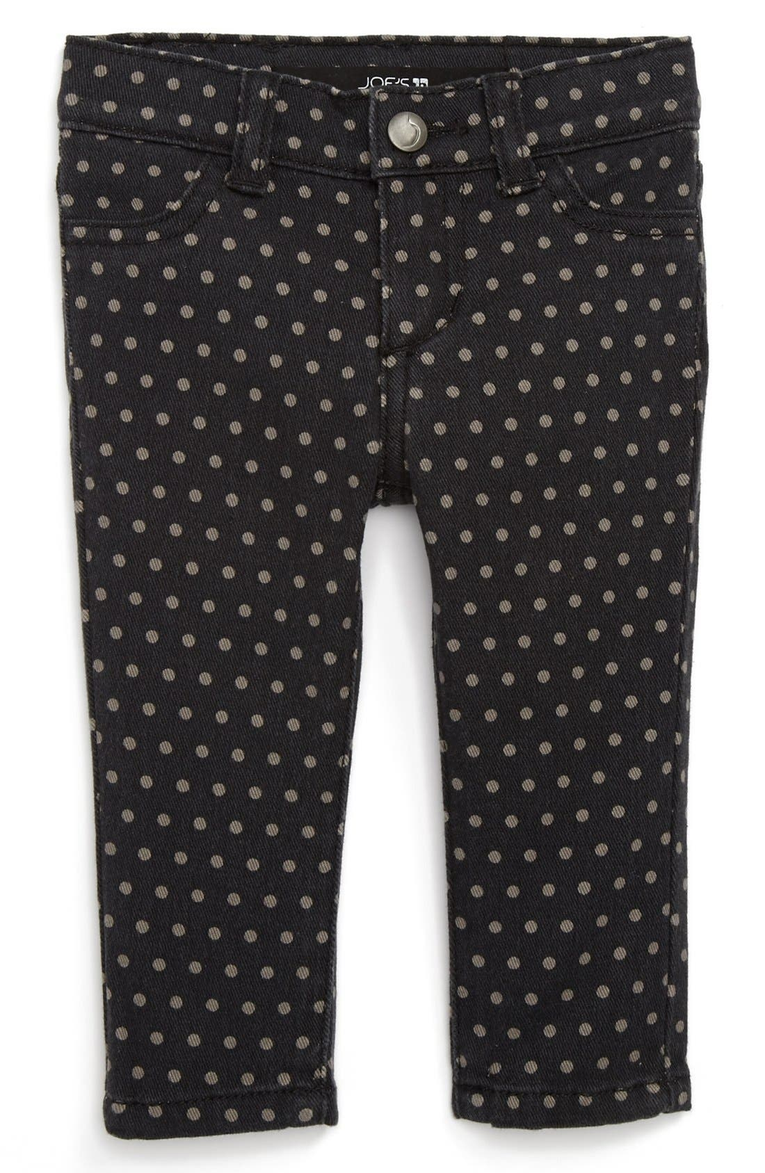 Alternate Image 2  - Joe's Polka Dot Denim Leggings (Baby Girls)