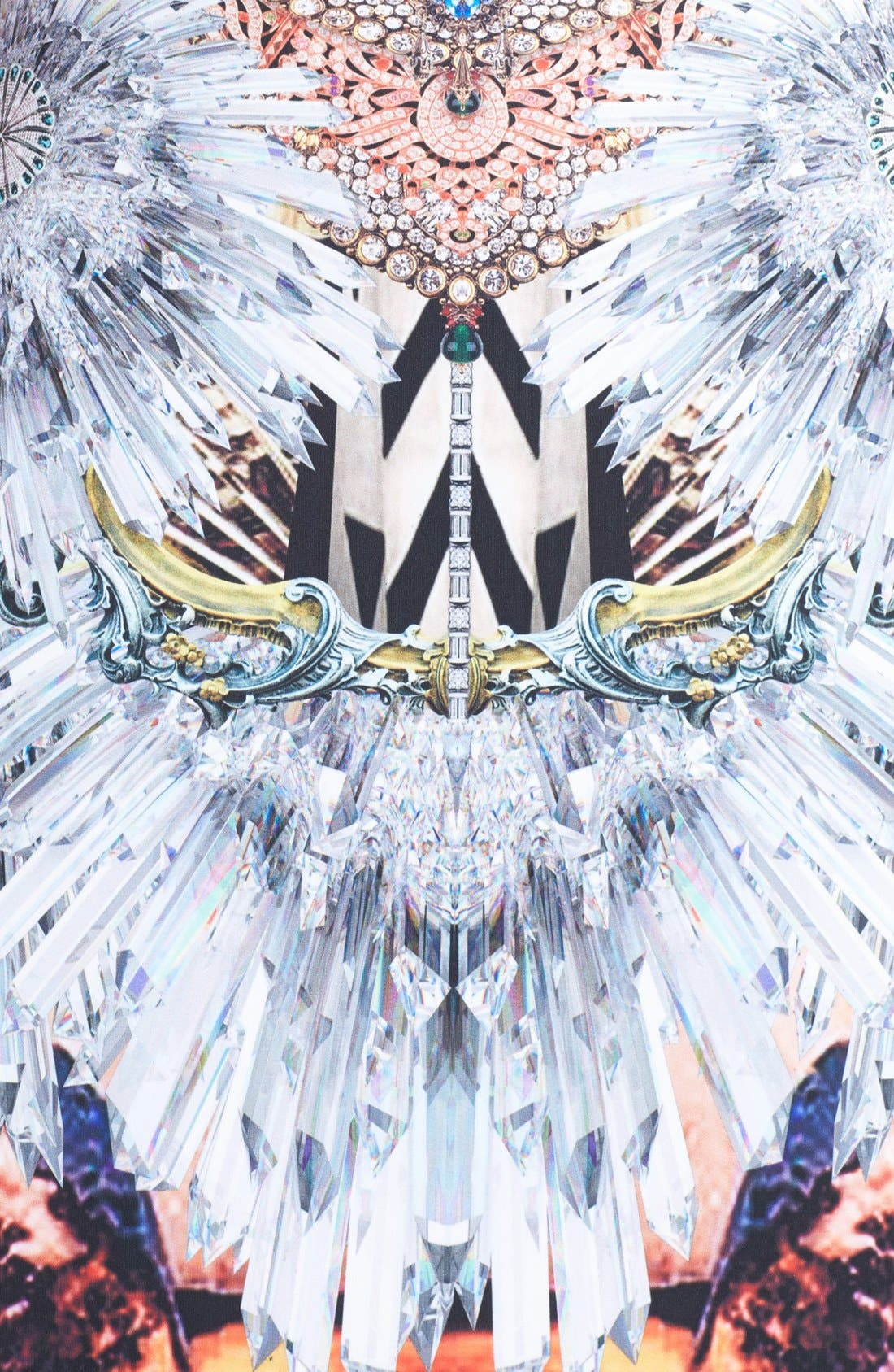 Alternate Image 3  - Clover Canyon 'Crystal Corset' Scuba A-Line Dress