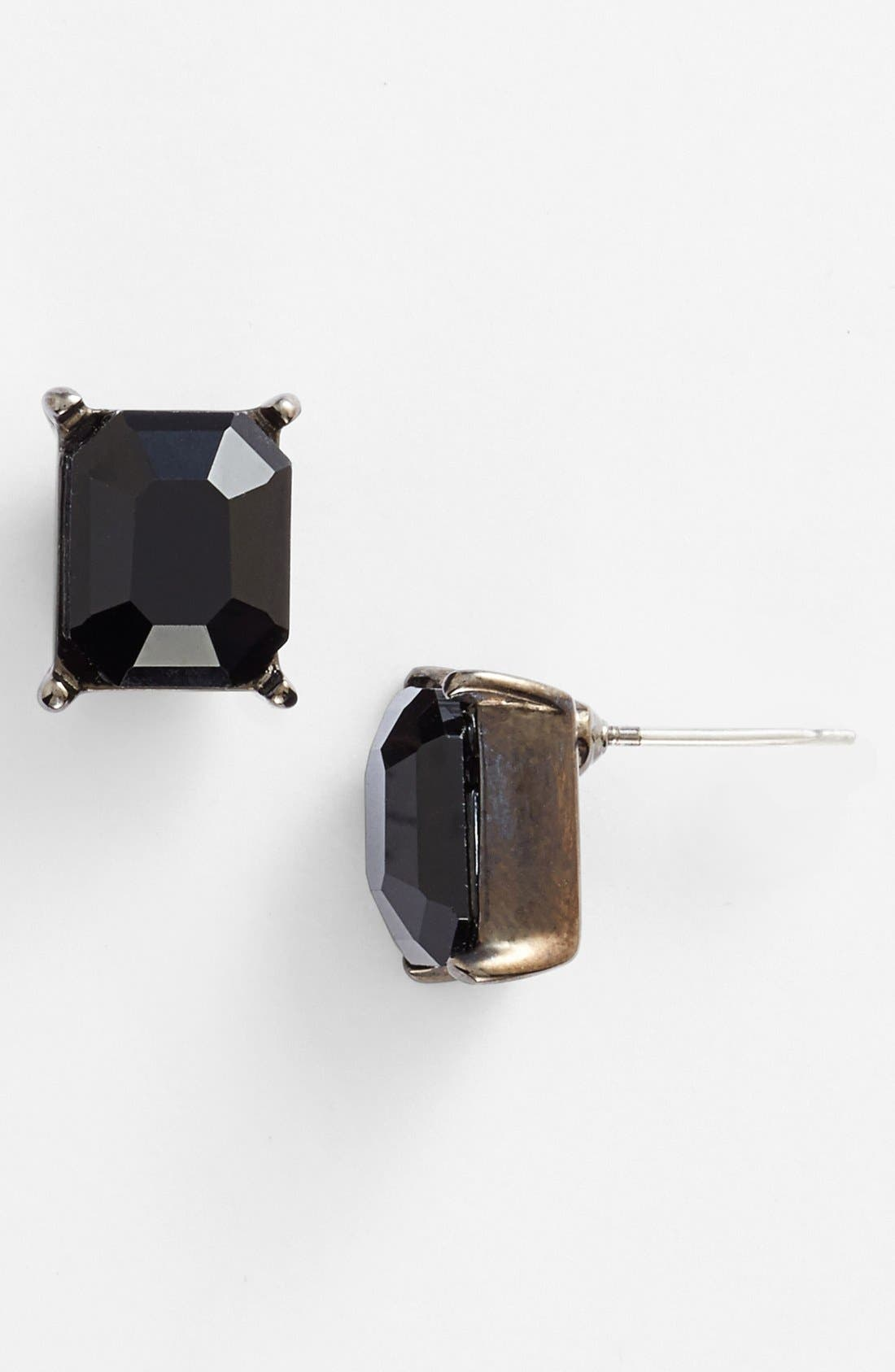 Alternate Image 1 Selected - Nordstrom Rectangular Stone Stud Earrings