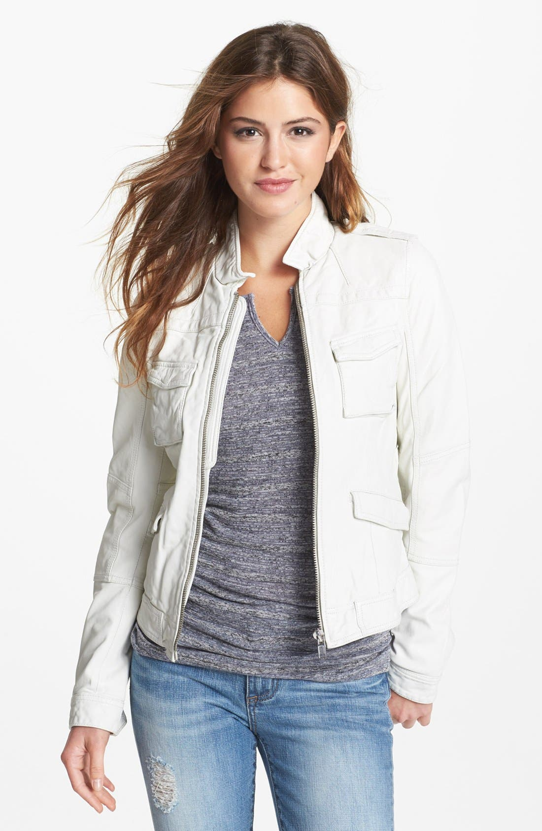Alternate Image 1 Selected - Q40 'Military' Leather Jacket