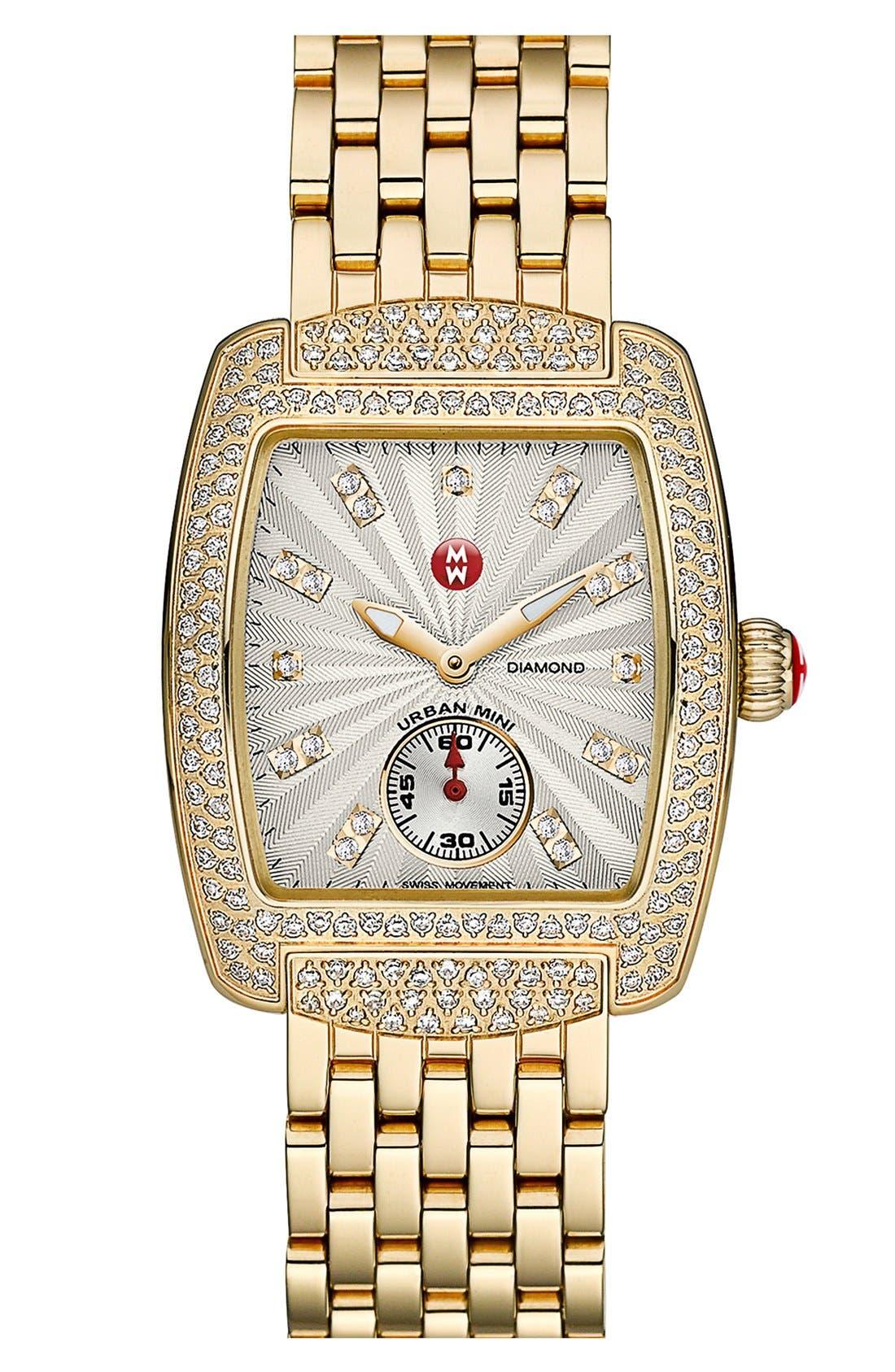 Alternate Image 2  - MICHELE 'Urban Mini Diamond' Diamond Dial Watch Case, 29mm x 30mm