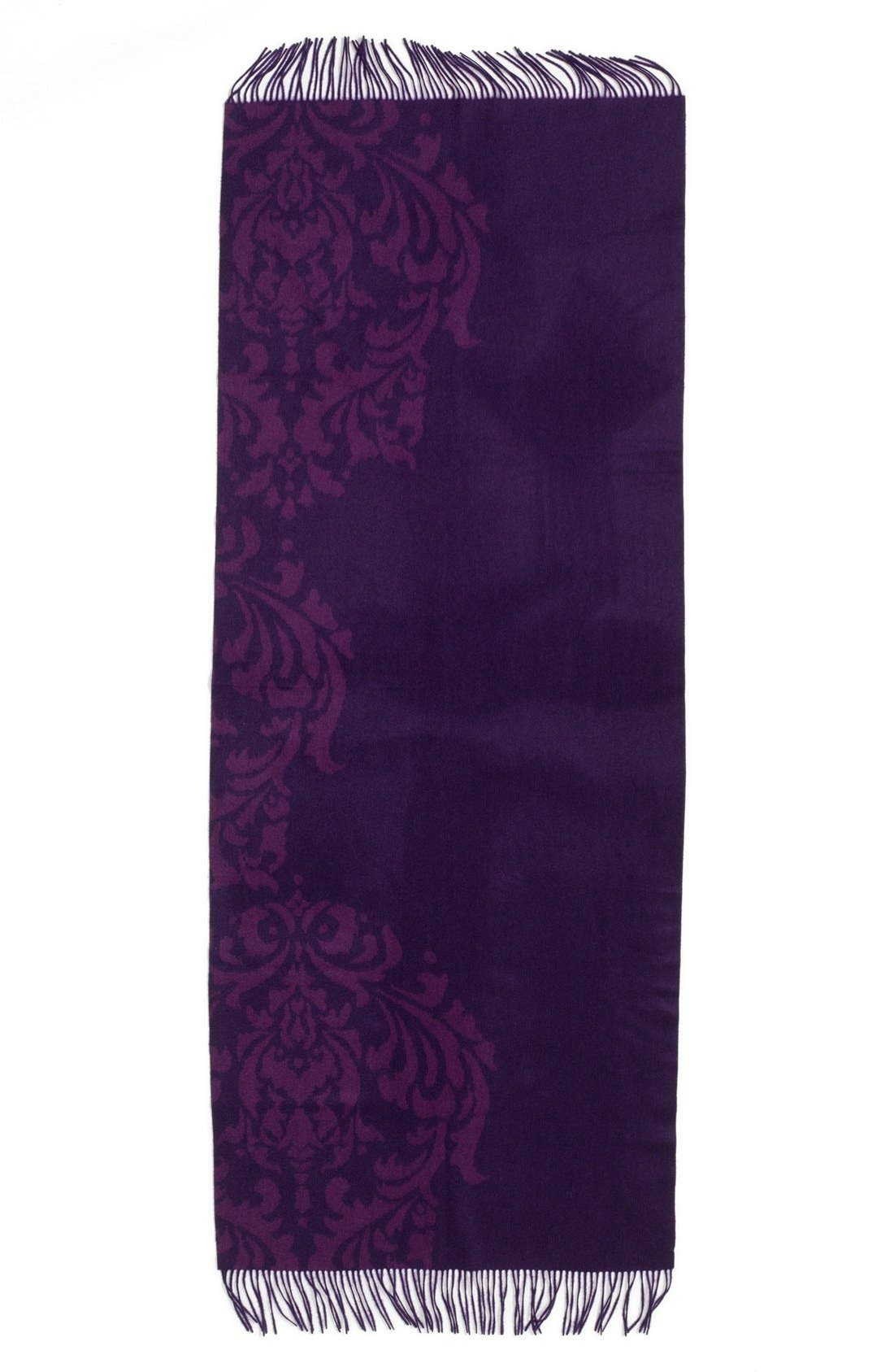 Alternate Image 2  - Nordstrom 'Scroll' Woven Cashmere Wrap