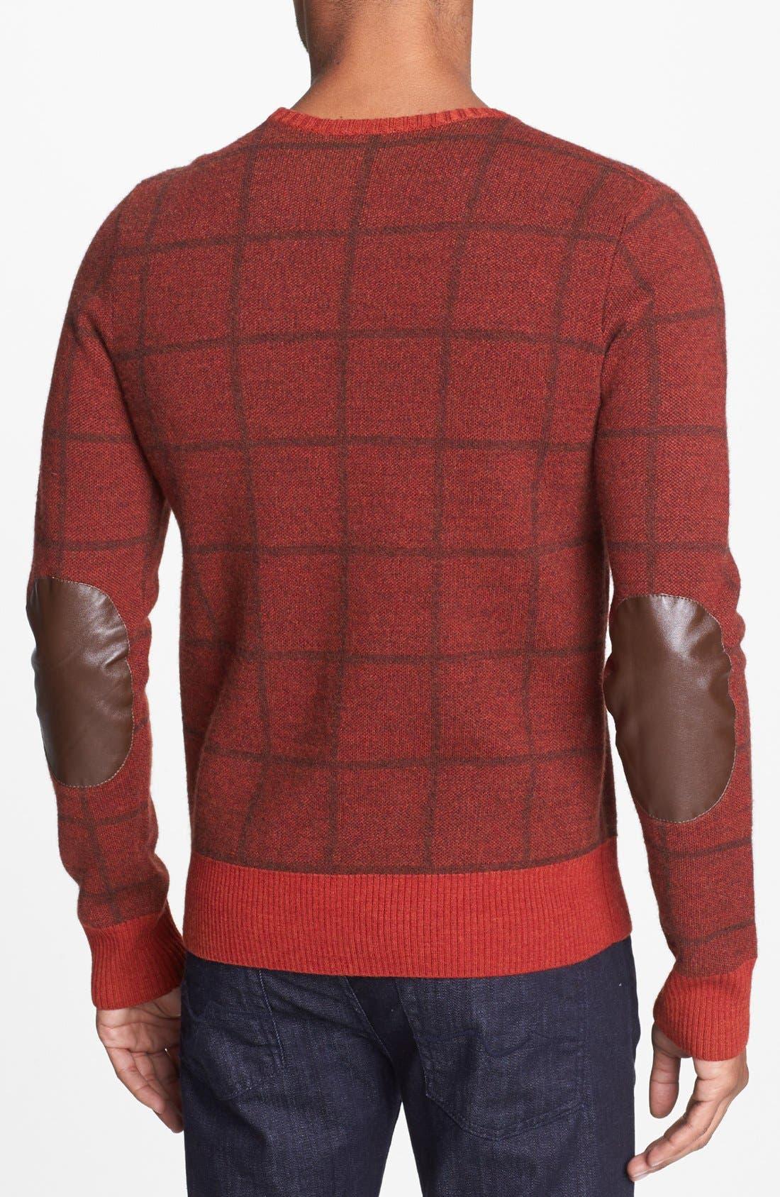 Alternate Image 2  - J. Press York Street Windowpane Merino Wool Crewneck Sweater