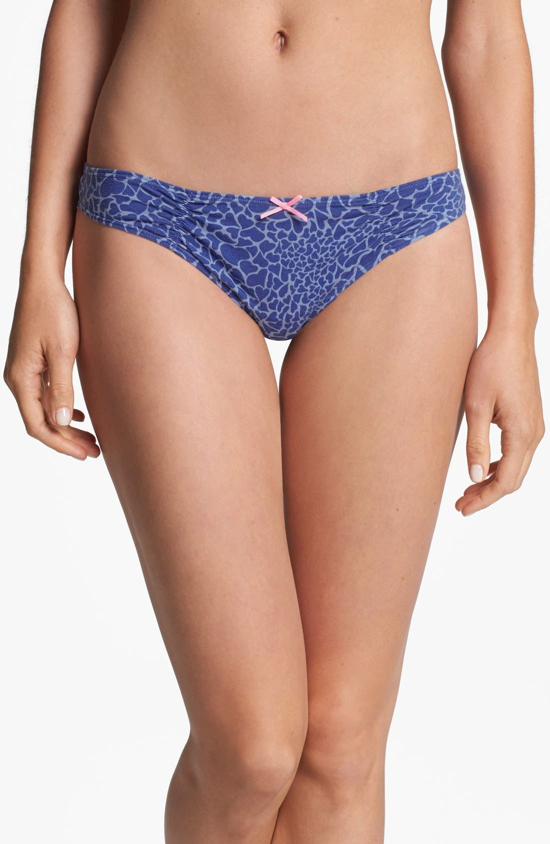 Main Image - Make + Model Stretch Cotton Thong (5 for $25)