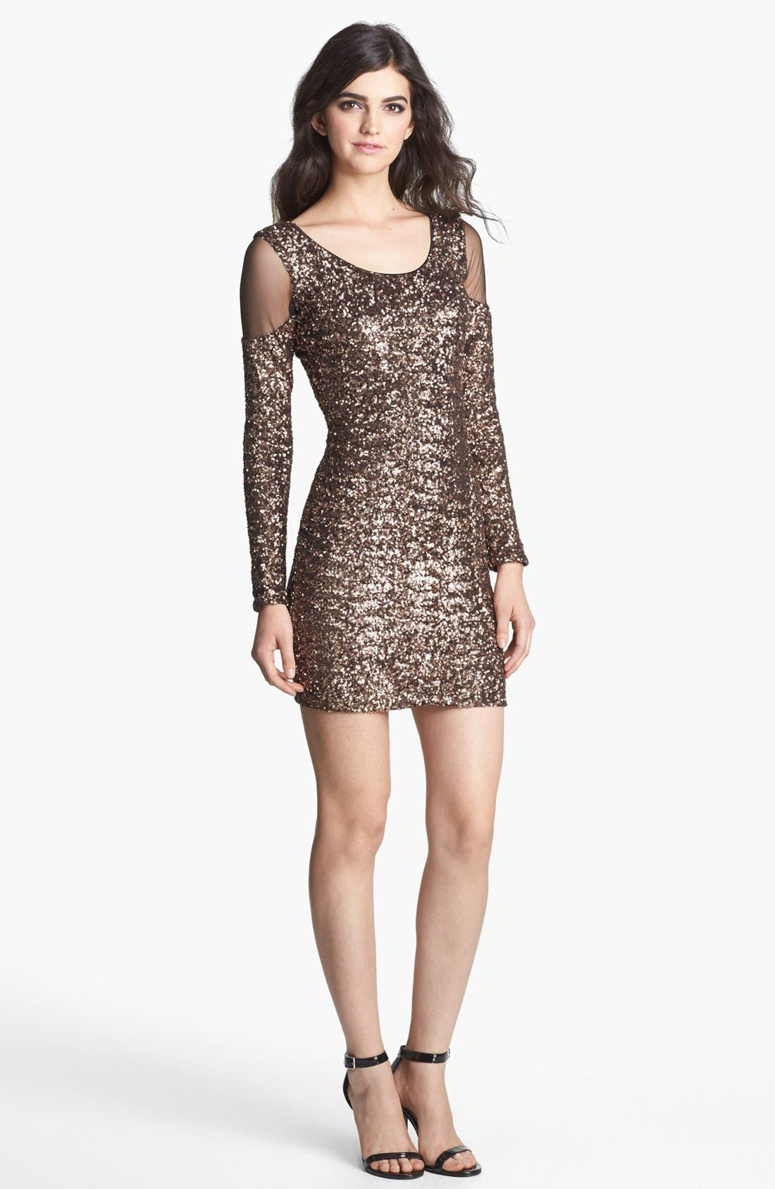 Alternate Image 1 Selected - Dress the Population 'Jaden' Sequin Body-Con Dress