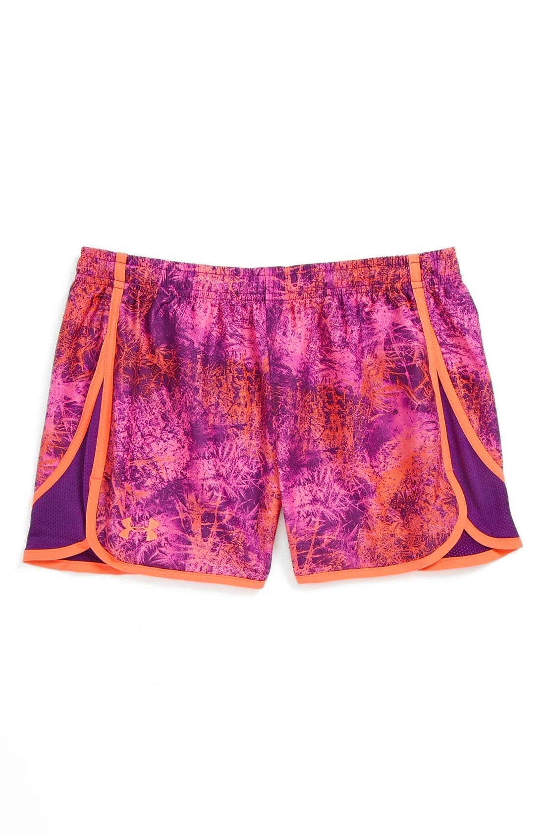 Main Image - Under Armour 'Escape' HeatGear® Print Shorts (Big Girls)