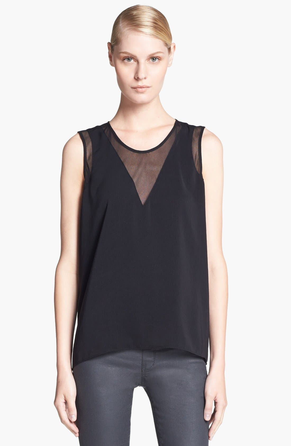 Alternate Image 1 Selected - HELMUT Helmut Lang 'Nexa' Mesh Inset Top
