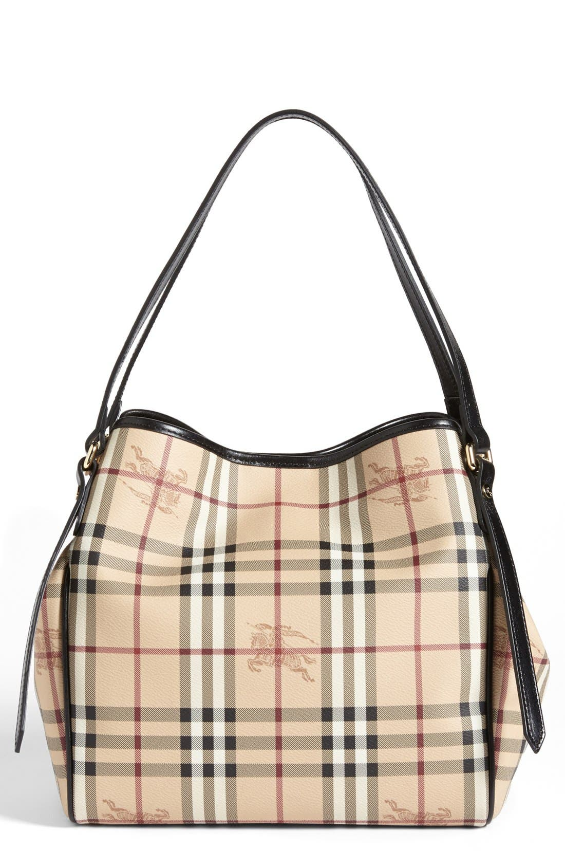 Alternate Image 1 Selected - Burberry 'Haymarket Check - Small' Shoulder Tote