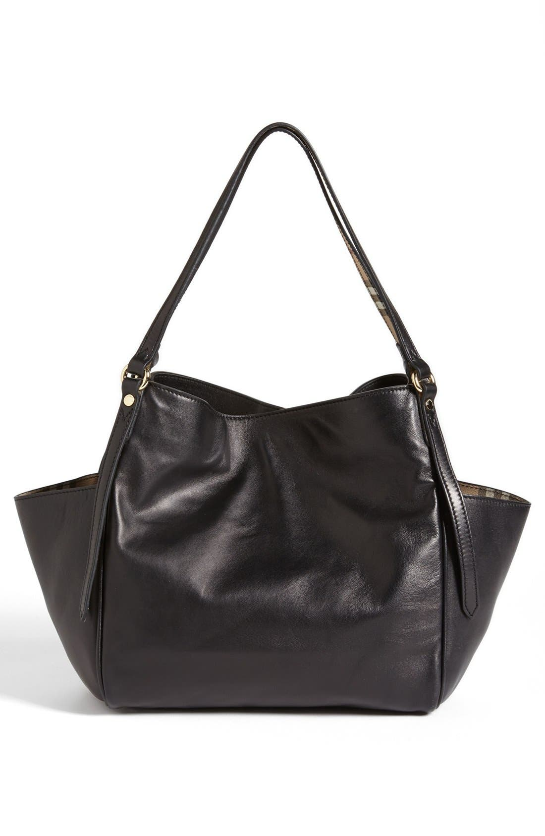 Alternate Image 4  - Burberry 'Canterbury' Leather Over Shoulder Tote