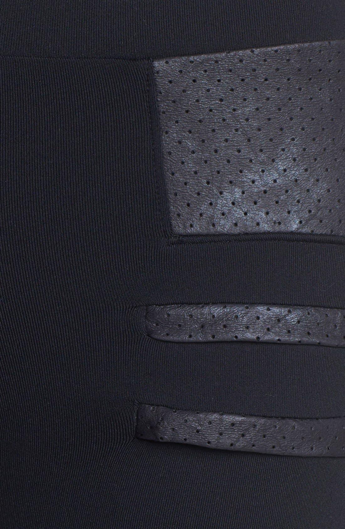 Alternate Image 5  - Solow Faux Leather Trim Leggings
