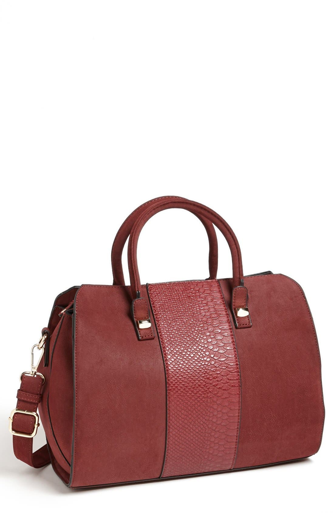 Alternate Image 1 Selected - Emperia Snake Embossed Faux Leather Satchel (Juniors) (Online Only)