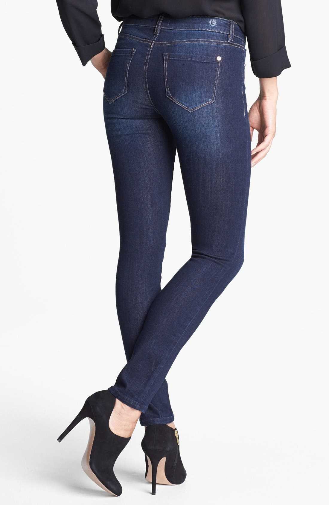 Alternate Image 2  - kensie Skinny Jeans (Starry Eyed)