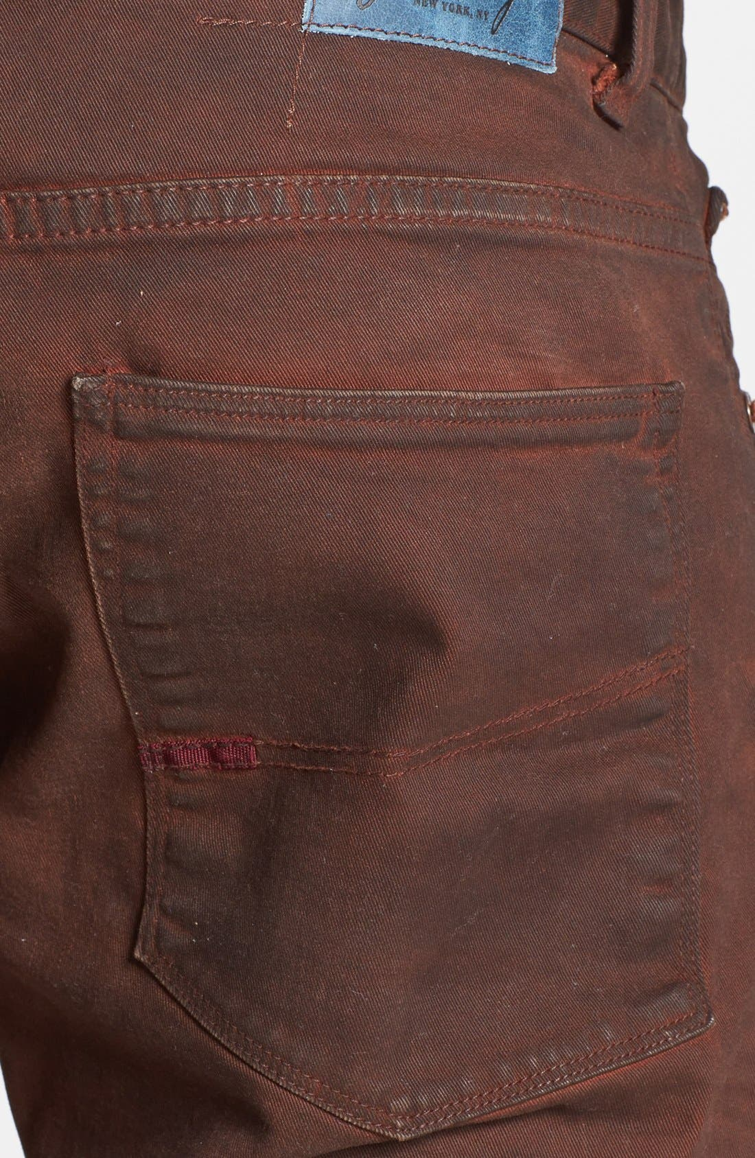 Alternate Image 4  - Gilded Age 'Morrison' Coated Skinny Fit Jeans (Faded Brick)