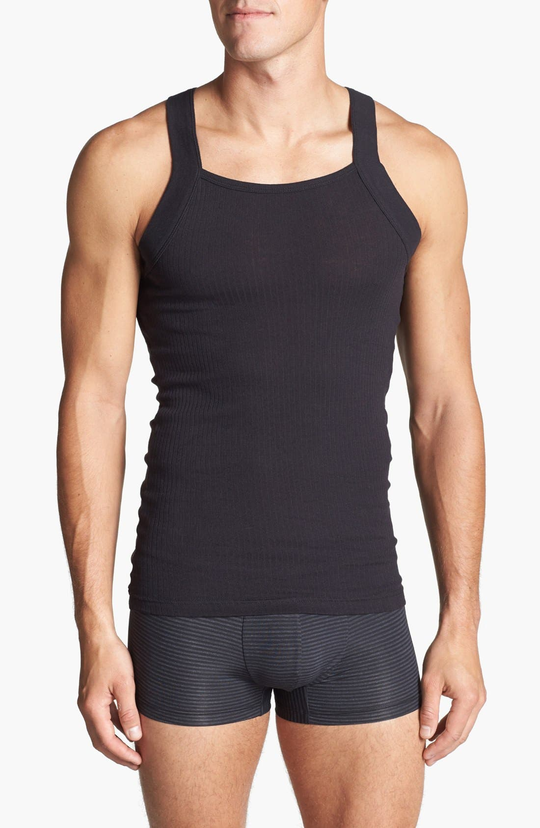 Main Image - 2(x)ist 2-Pack Cotton Tank Top