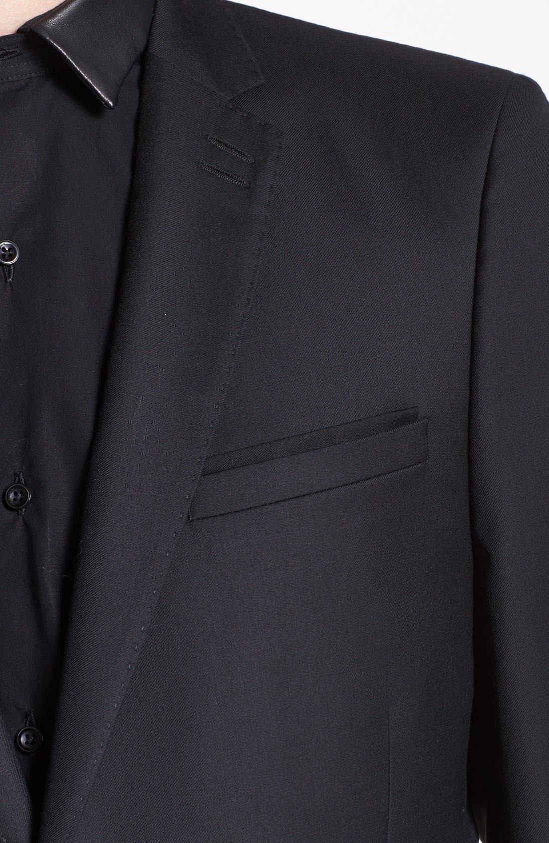 Alternate Image 2  - The Kooples Adjusted Fit Black Wool Blazer