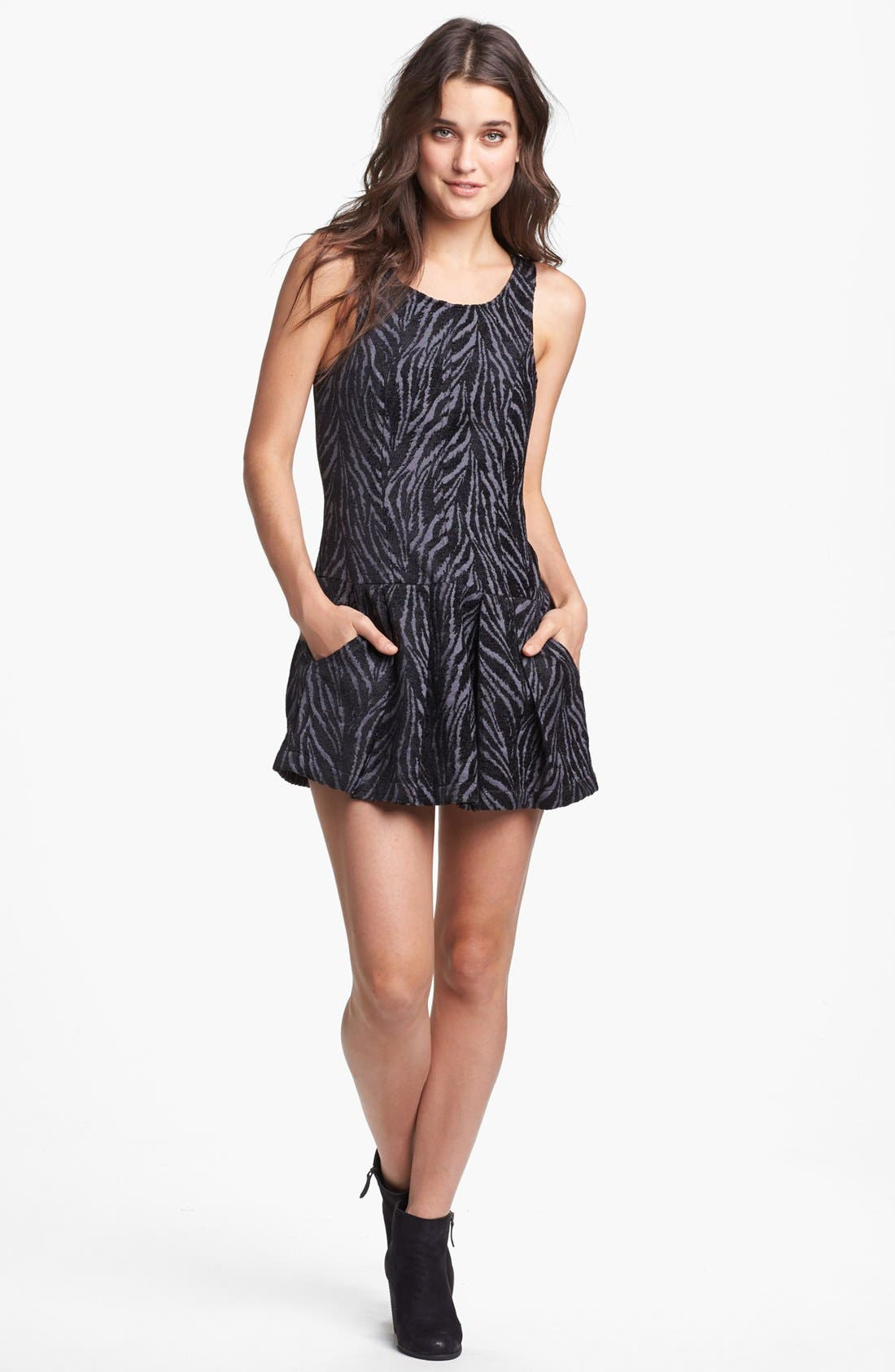 Alternate Image 1 Selected - Free People Print Drop Waist Dress