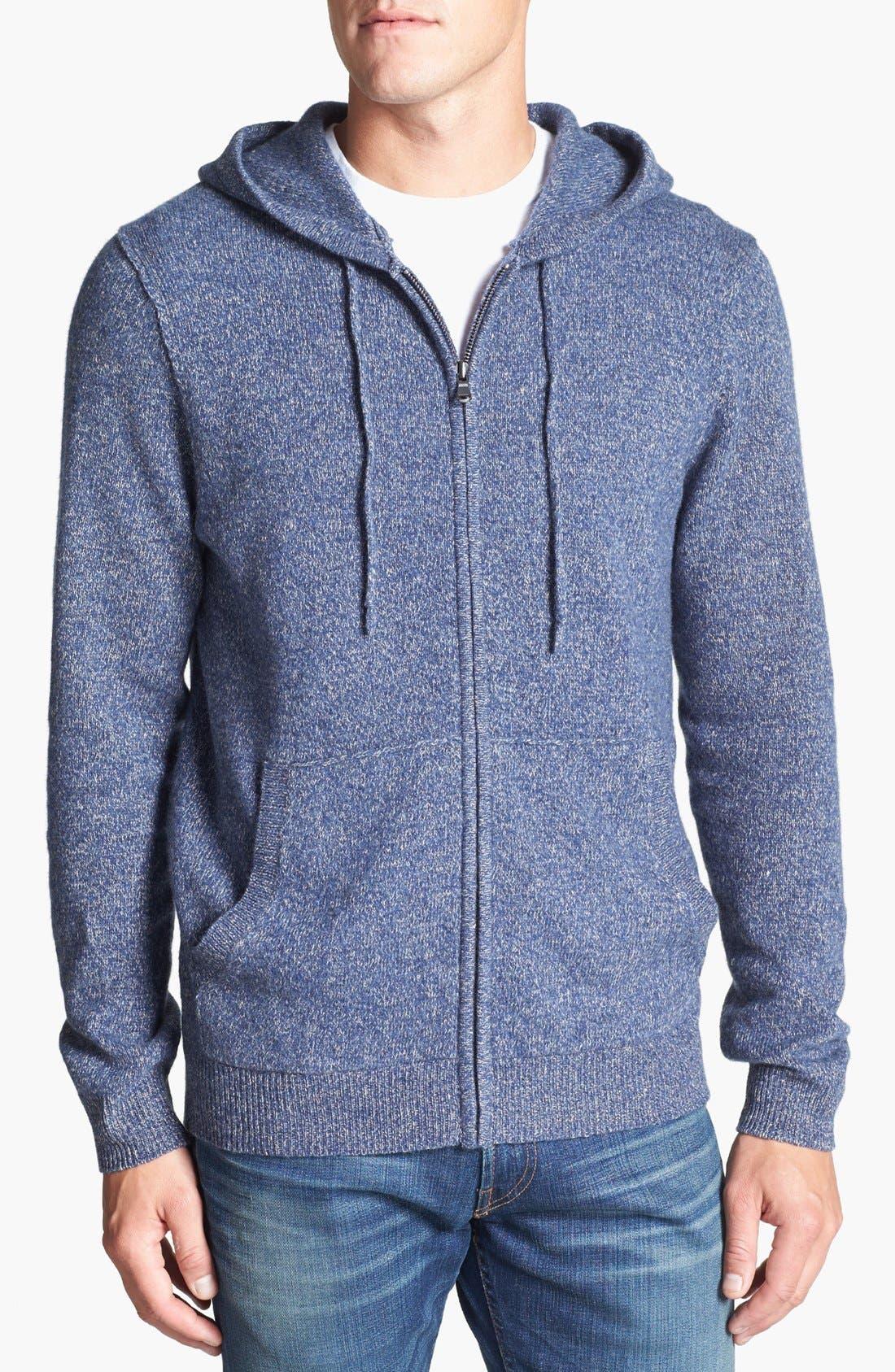 Alternate Image 1 Selected - Nordstrom Wool Zip Hoodie