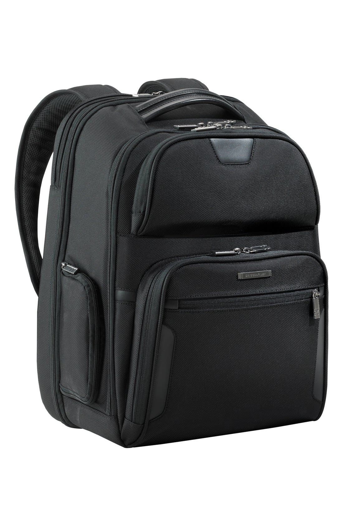 Alternate Image 1 Selected - Briggs & Riley 'Large' Ballistic Nylon Clamshell Backpack