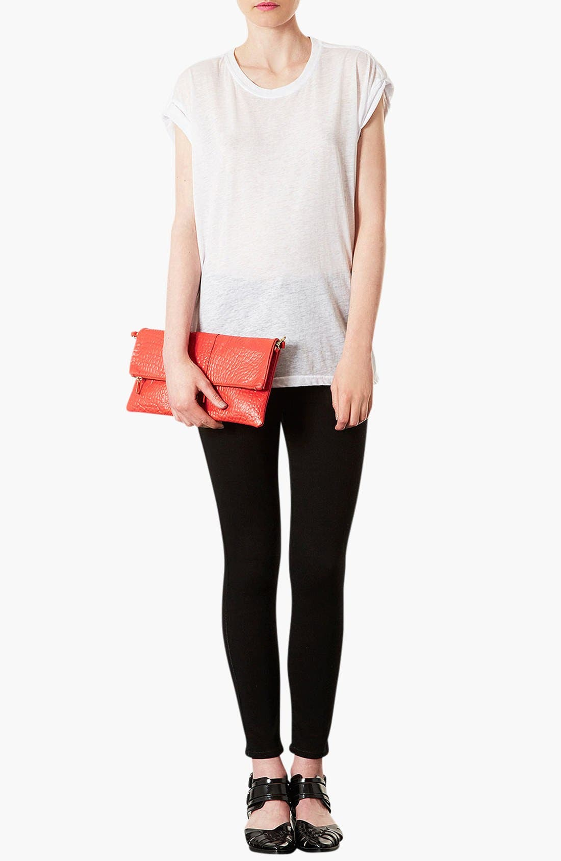 Alternate Image 4  - Topshop Leather Clutch