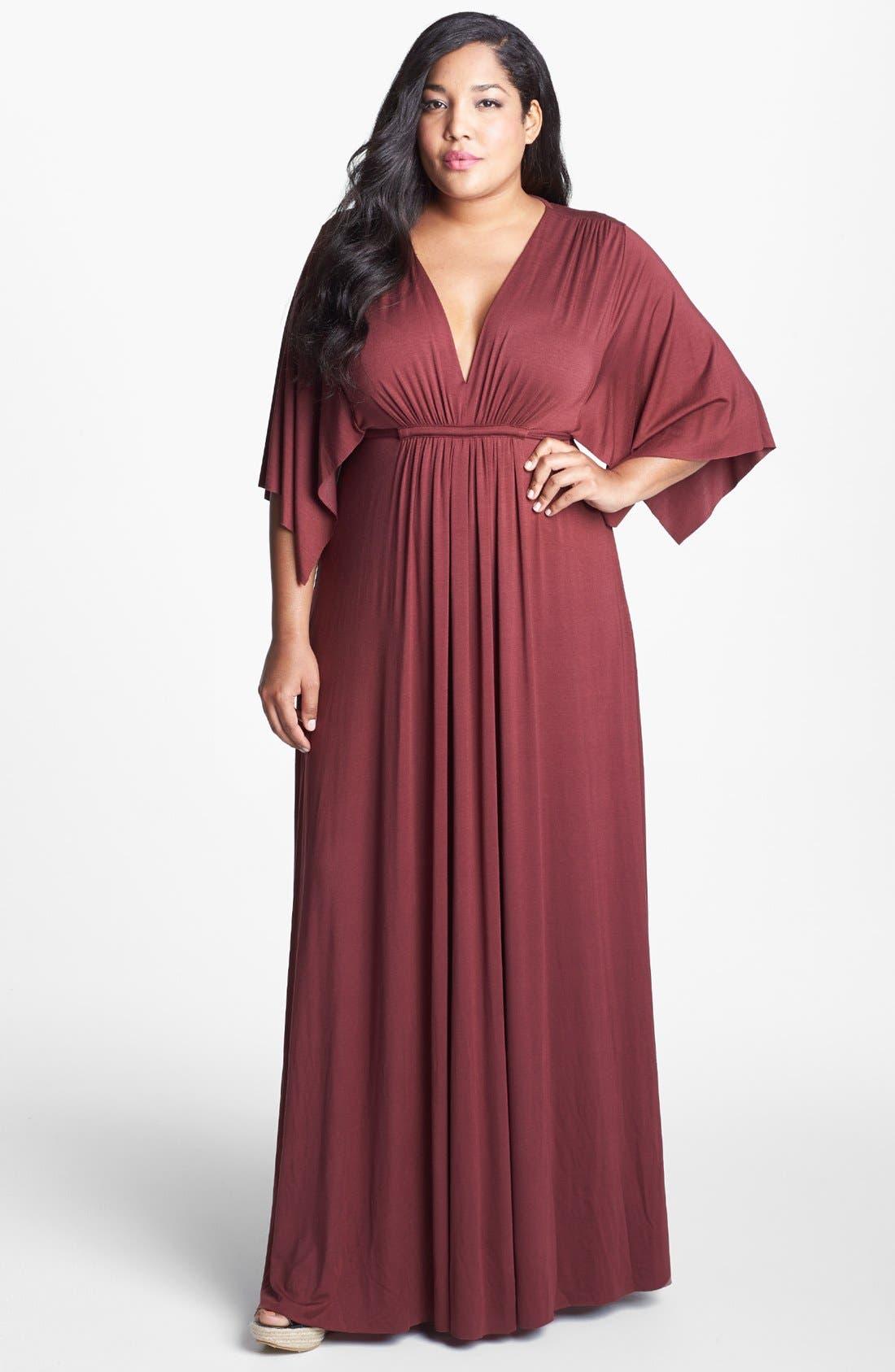Alternate Image 1 Selected - Rachel Pally White Label Long Caftan Dress (Plus)