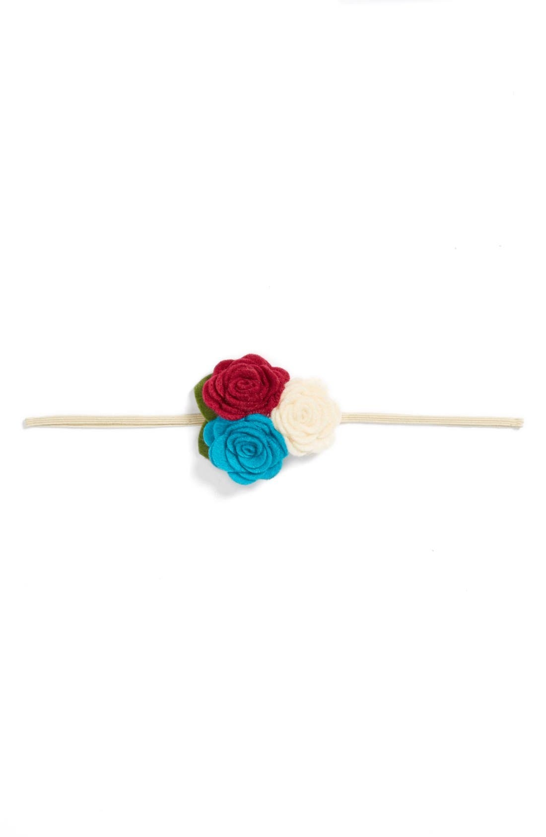 Alternate Image 1 Selected - Baby Bling Triple Bud Headband (Baby Girls)
