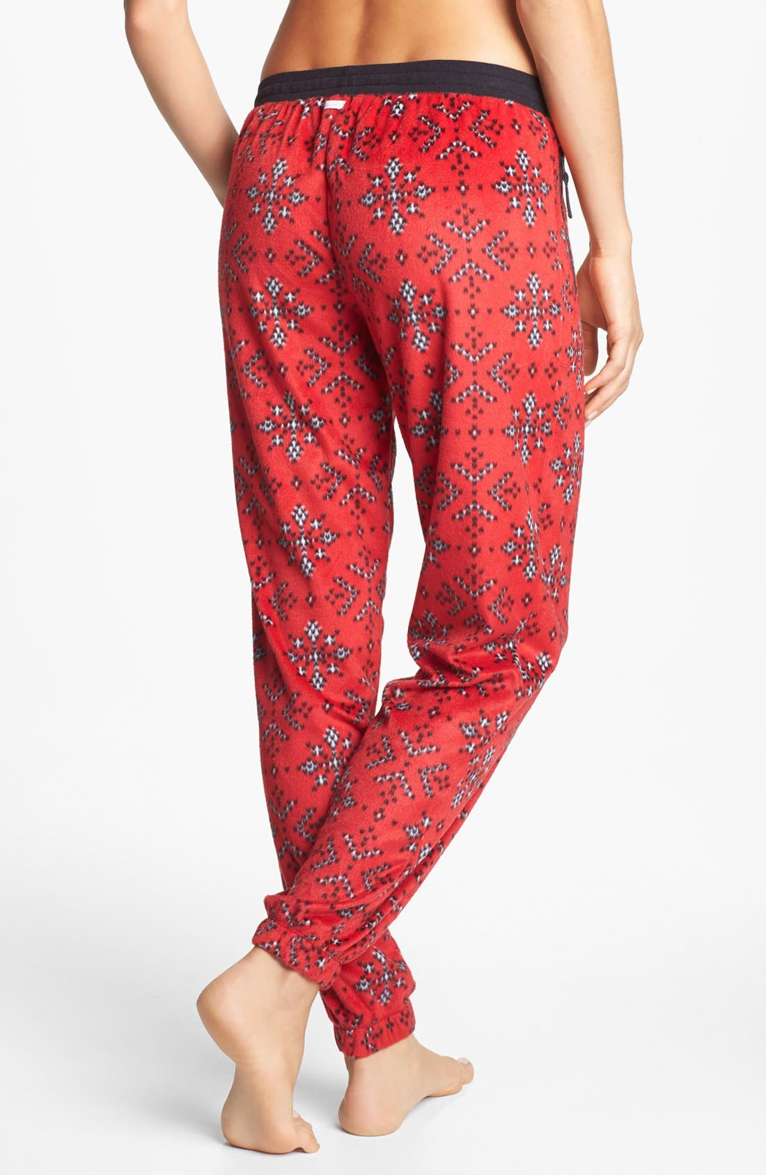 Alternate Image 2  - kensie 'Chilled Out' Fleece Ski Pajama Pants