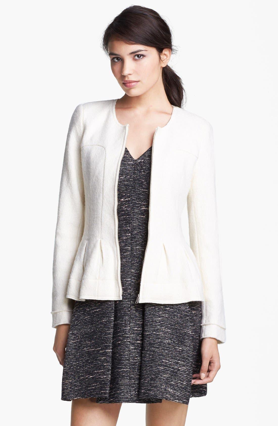 Main Image - Mcginn Zip Front Peplum Jacket