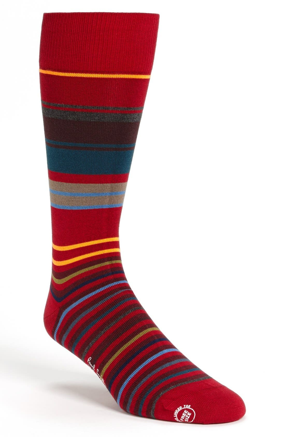 Alternate Image 1 Selected - Paul Smith Accessories Neon Stripe Socks